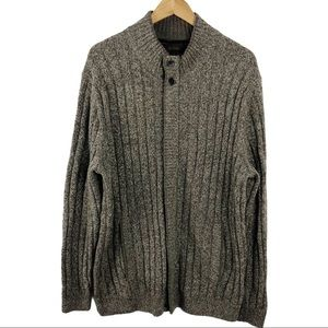 Tasso Elba Lambswool Knit Full Zip Jacket XL